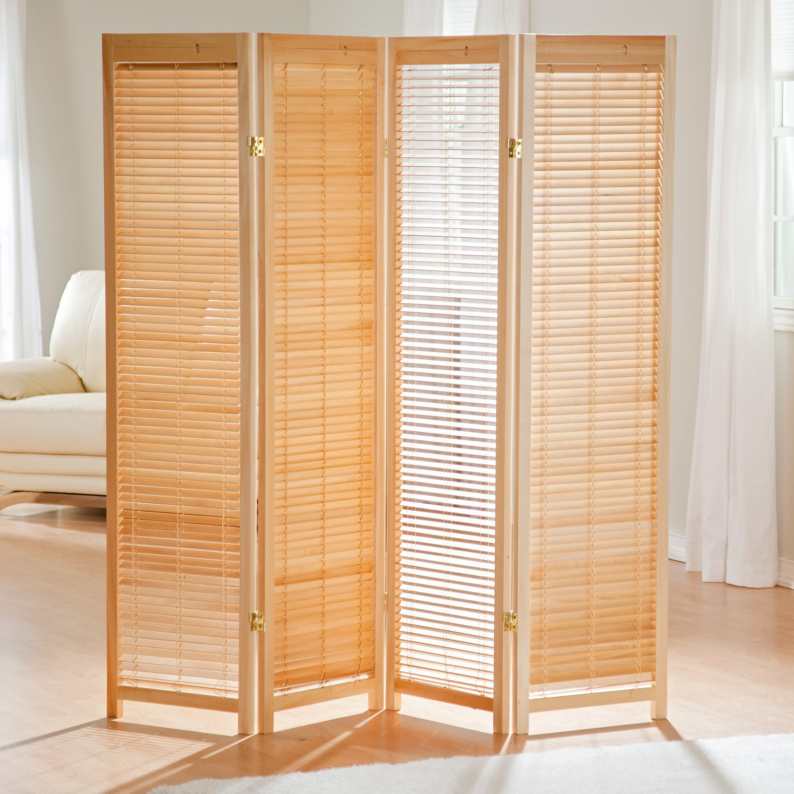 tranquility wooden shutter room divider - walmart