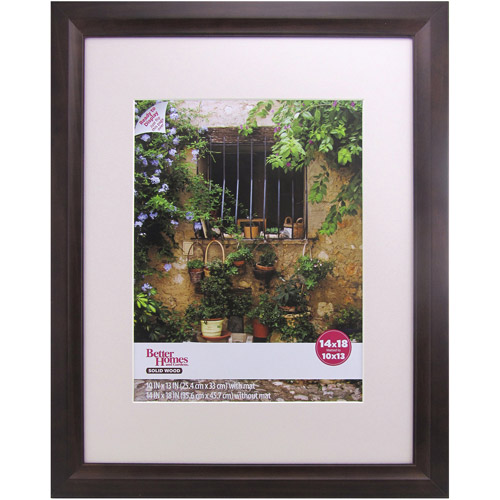Better Homes and Gardens Studio 14x18 Wide Picture Frame, Mahogany