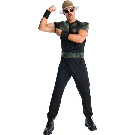 Adult WWE WWF Wrestling Sergeant Sargent Sgt. Slaughter Costume - Adult Wwe Costumes