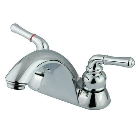 Kingston Brass KB2621LP 4-Inch Centerset Lavatory Faucet, Polished Chrome ()