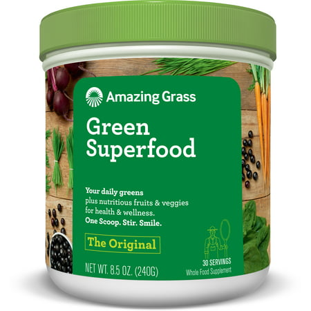 Amazing Grass Green Superfood Powder, Original, 30 Servings Benefits Of Barley Grass Powder