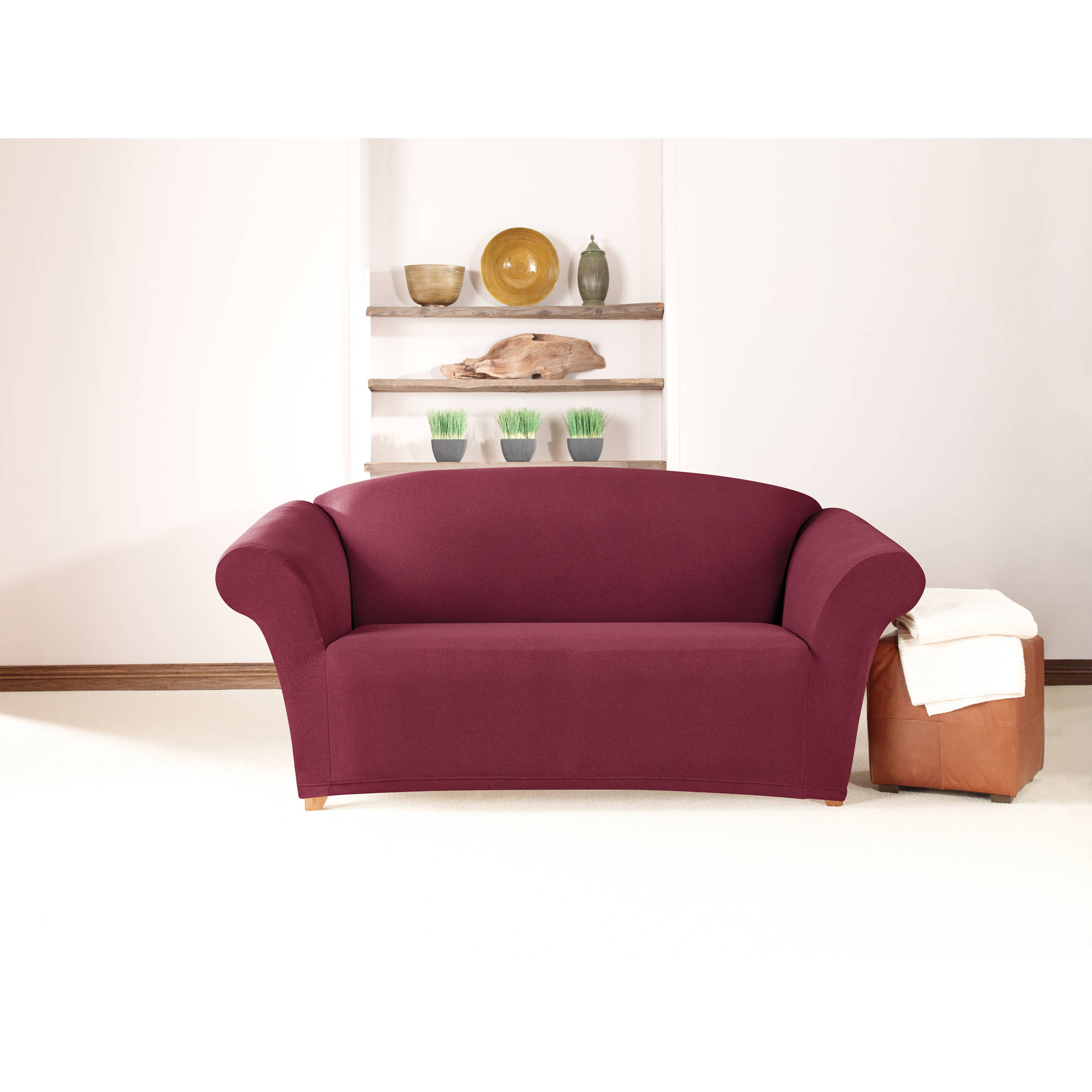 Sure Fit Simple Stretch Twill 1-Piece Loveseat