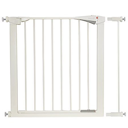 Ivation safety gate With Door, Easy-Close, Walk Through, Double Locking Swing Door, Fits Spaces