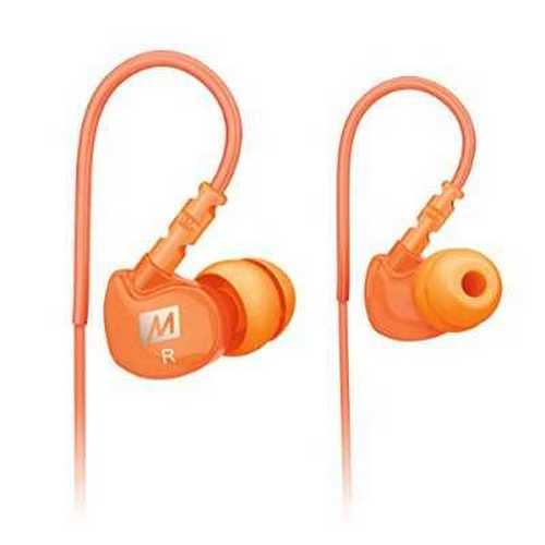 Refurbished MEE audio Sport-Fi M6 Noise Isolating In-Ear Headphones with Memory Wire (Orange)