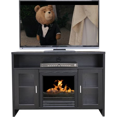 D;cor Flame Hudson 42″ Media Fireplace, for TVs up to 50″, Black
