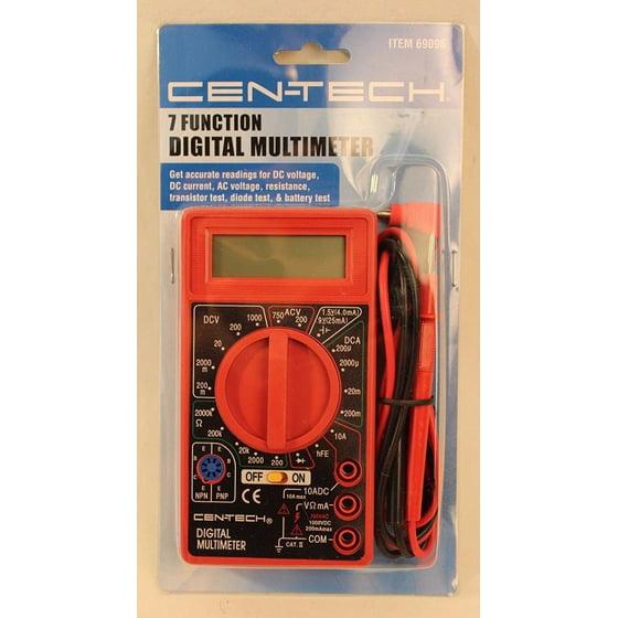 Digital Amp Ohm Volt Meter Ac Dc Voltmeter Multimeter by, Test AC/DC  voltage, DC current, resistance, transistor and diode, battery test By  Cen-Tech