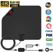 TV Antenna - HDTV Antenna Support 4K 1080P New Version up to 120 Miles Range Digital Antenna for HDTV VHF UHF Freeview Channels Antenna with Amplifier Signal Booster 16.5 ft Longer Coaxial Cable