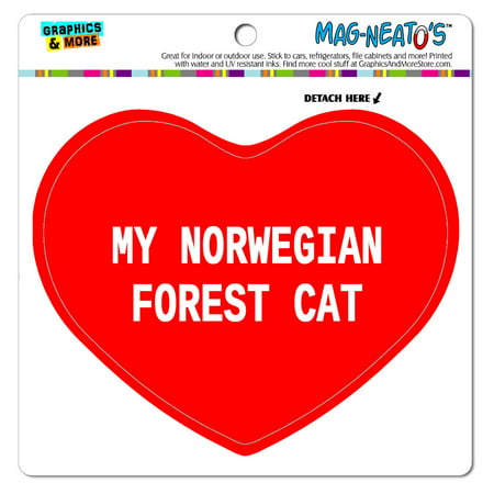 Embroidered Norwegian Forest Cat (I Love Heart - My - My Norwegian Forest Cat - MAG-NEATO'S(TM) Vinyl Magnet )