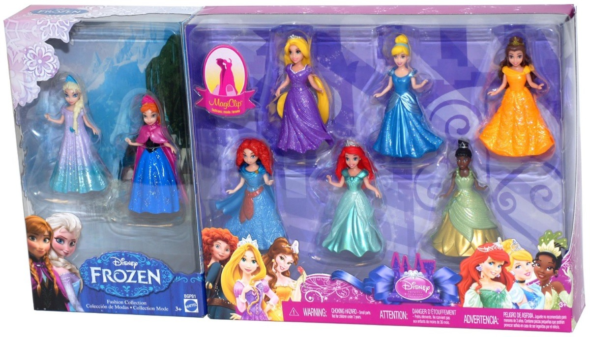 Disney Princess Doll Giftset, 8 Piece Featuring Anna, Elsa, Cinderella, Belle, Merida, Rapunzel, Ariel and... by Mattel