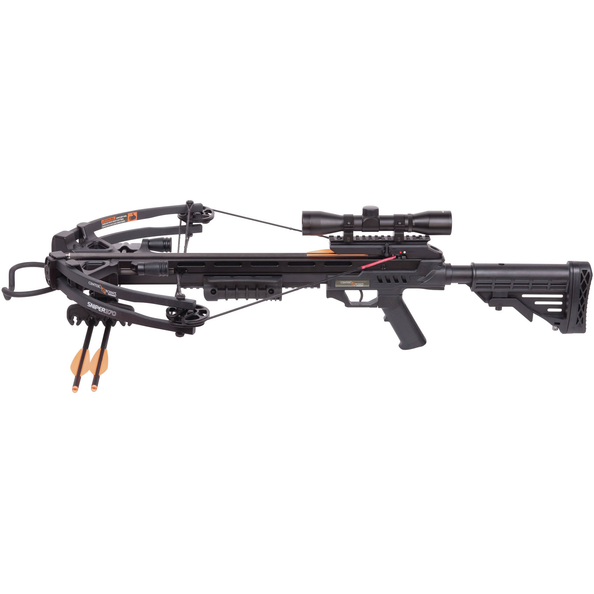 Click here to buy CenterPoint Sniper AXCS185BK Compound Crossbow with 4x32mm Scope, RCD by CenterPoint.