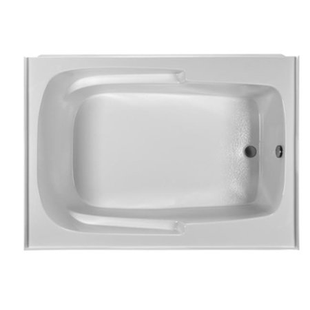 Reliance Baths R6042ISS-W-RH Integral Skirted 60 x 42 in. Soaking Bathtub With End Drain, White (6042 Bathtub)