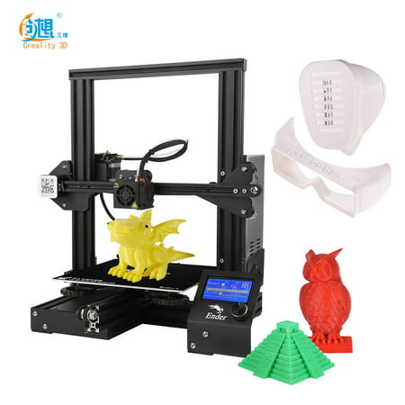 Tomfoto Ender-3 High- DIY 3D Printer Self-assemble 220 * 220 * 250mm Printing Size with Resume Printing Function