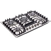 Deli-kit 30 inch Gas Cooktops Dual Fuel Sealed 5 Burners Gas Cooktop Built-In Stainless Steel Gas Hob DK257-A03 Gas Cooktop