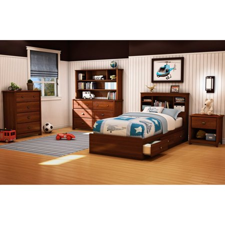 (South Shore Willow Twin Mates Bookcase Bed Collection)