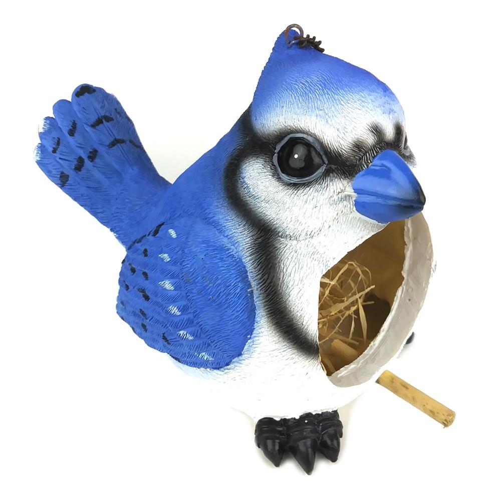 "Blue Jay Birdhouse, 9"""