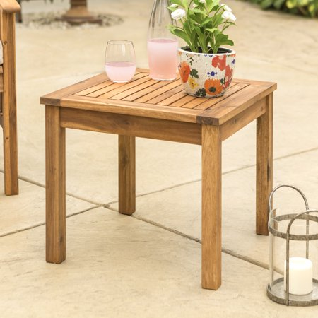 Prime Manor Park Outdoor Wood Patio Side Table Brown Download Free Architecture Designs Aeocymadebymaigaardcom