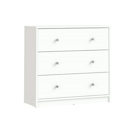 Atlin Designs 3 Drawer Chest in White ()