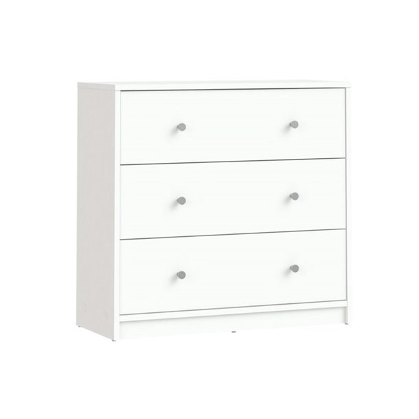 Atlin Designs 3 Drawer Chest in White