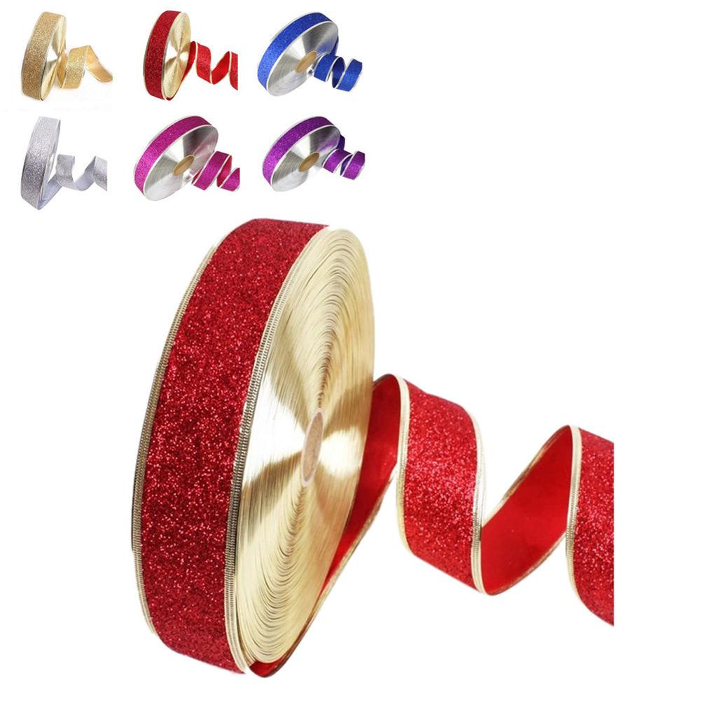 HiCoup 200 x 5cm Fashion Christmas Decoration Ribbon Xmas Gift Box Packaging Belt