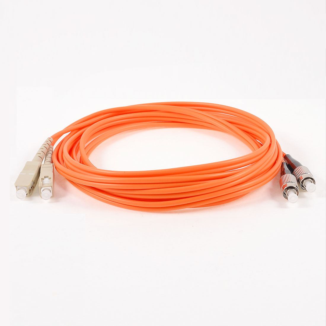Unique Bargains Multi Mode FC to SC Fiber Optic Jumper Cable Orange 3 Meter 62.5/125 Micron