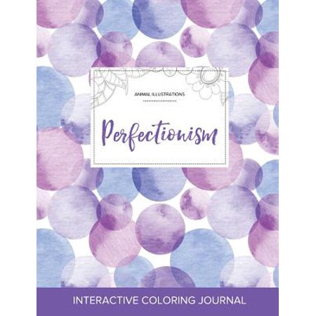 Animal Bubbles (Adult Coloring Journal : Perfectionism (Animal Illustrations, Purple)