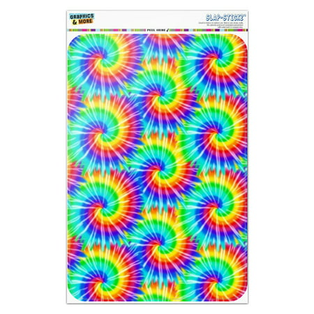 Tye Dye Peace Sign (Tie Dye Pattern Home Business Office)