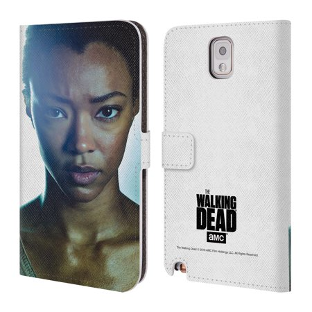 OFFICIAL AMC THE WALKING DEAD CHARACTERS LEATHER BOOK WALLET CASE COVER FOR SAMSUNG PHONES 2