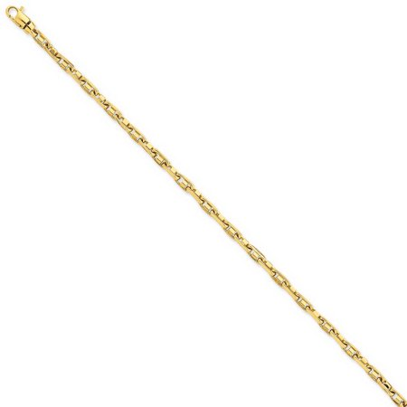 14k Yellow Gold 8in 3.25mm Polished Fancy Link Chain Bracelet