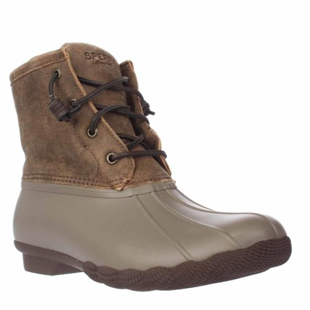 136d8a2513c9 Sperry Top-Sider - Womens Sperry Top-Sider Saltwater Short Rain Boots -  Taupe - Walmart.com