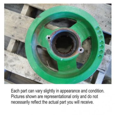Feeder House Front Drive Shaft Pulley, Used, John Deere, CE19957 - Front House Equipment