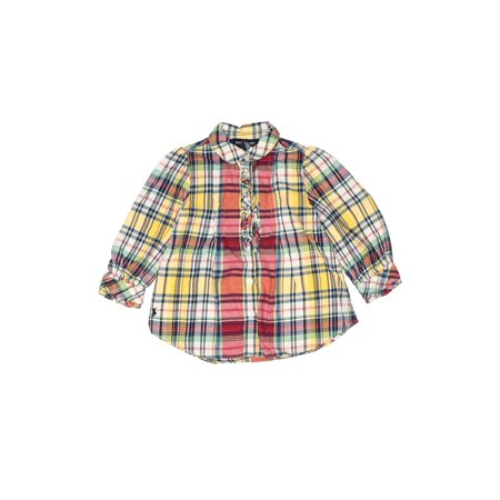 Pre-Owned Ralph Lauren Baby Girl's Size 18 Long Sleeve Button-Down Shirt
