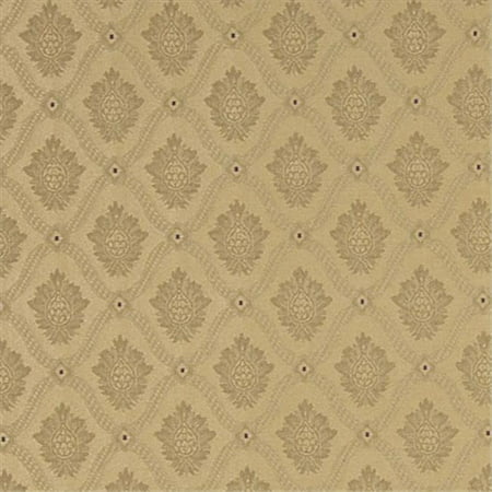 Designer Fabrics A492 54 in. Wide Gold Two Toned Brocade Medallion Upholstery Fabric