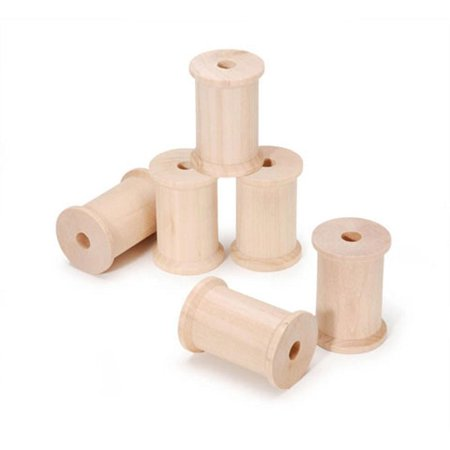 Set of 6 Blank Unfinished Wooden Spools 2.25 Inches](Wooden Spools)