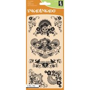 "Inkadinkado Halloween Clear Stamps 4""X8"" Sheet-Dia De Los"