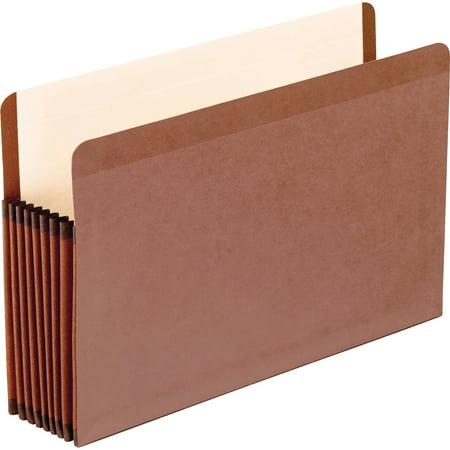 5 Reinforced Pockets (Pendaflex, PFX45303, Redrope Premium Reinforced File Pockets, Red)