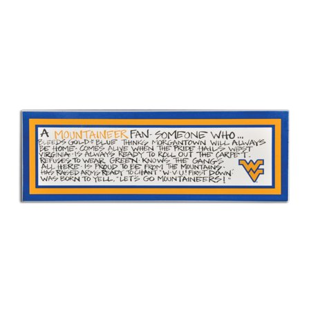 West Virginia University Definition of a Fan Wooden Plaque (West Virginia University Halloween)