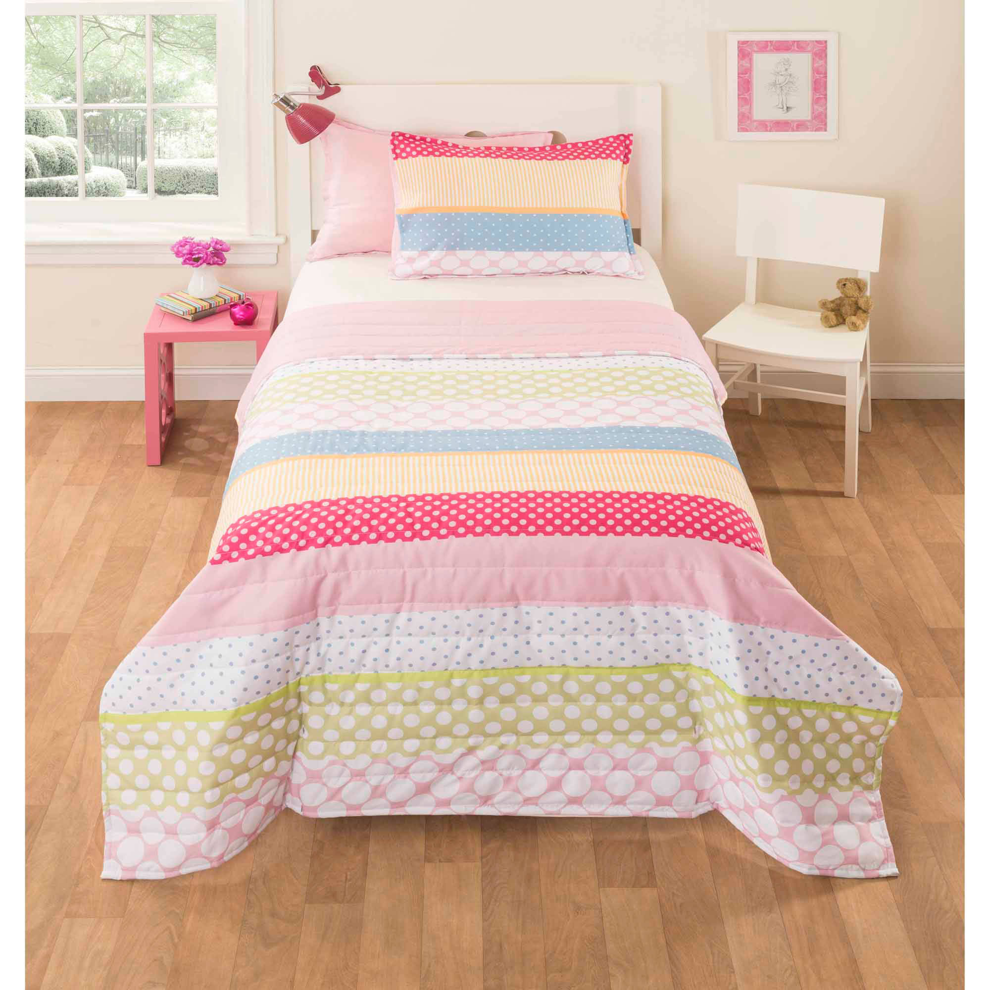 Mainstays Kids Pink Rally Bedding Comforter Set