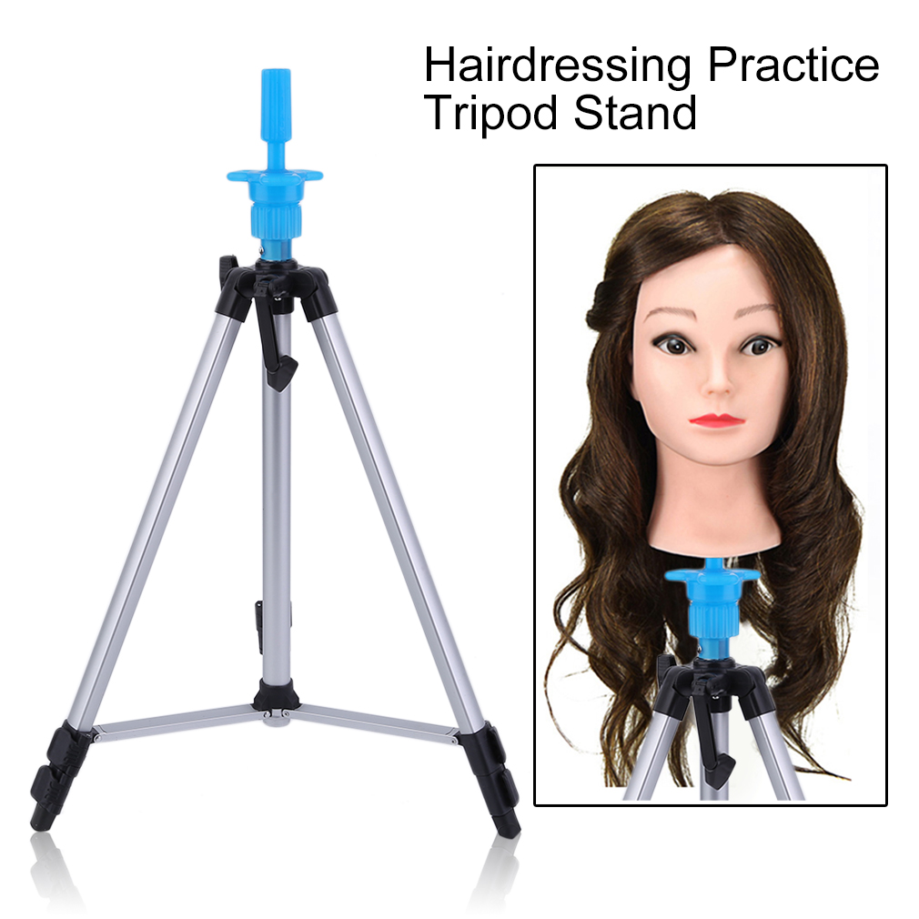 Hairdressing Clamp Hair Practice Adjustable Wig Tripod Stand Salon Hair Cosmetology Mannequin Training Accessory Head Hold