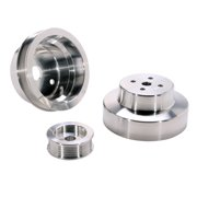 BBK PERFORMANCE 1603 88-95 GM TRUCK 4.3/5.0/5.7L 3 PC UNDERDRIVE PULLEY KIT (ALUMINUM)