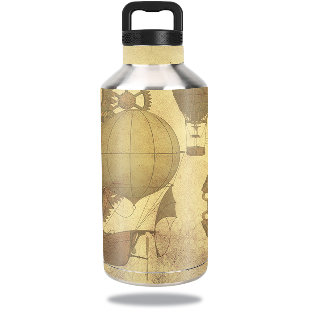 MightySkins Protective Vinyl Skin Decal for Ozark Trail Water Bottle 64 oz wrap cover sticker skins Steam Punk Paper