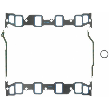 Fel Pro HP 1247 Intake Manifold Gasket  Ford FE Big Block; 1.40 Inch X 2.10 Inch Port Size; Printoseal; 0.060 Inch Thick - image 2 de 2
