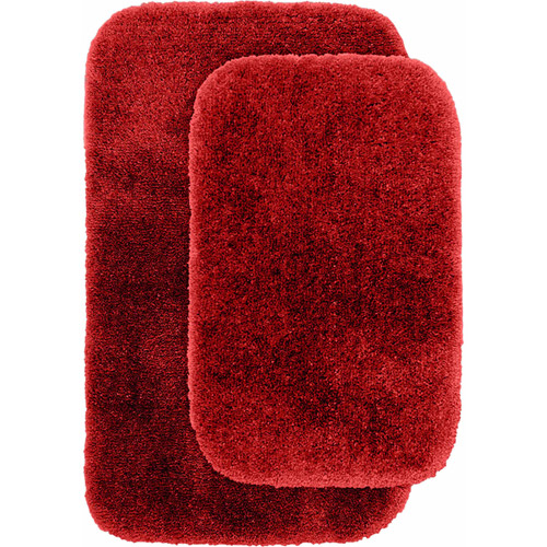 "Finest Luxury Ultra Plush Nylon 2-Piece Washable Bathroom Rug Set 17""x24"" &... by Garland Rug"