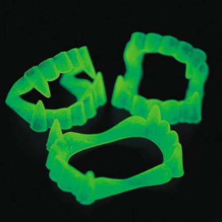 Glow In The Dark Fangs - 12 per pack](Glow In The Dark Supplies)