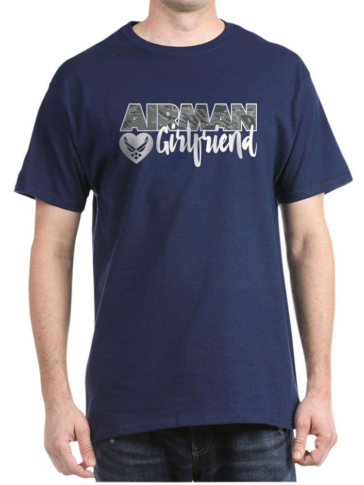 CafePress - Airman Girlfriend - 100% Cotton T-Shirt