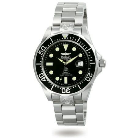 Men's 3044 Pro Diver Automatic 3 Hand Black Dial Watch
