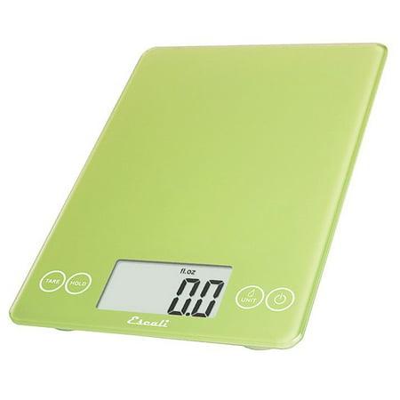 Escali - Arti Glass Digital Food Scale 157LG Key Lime Green