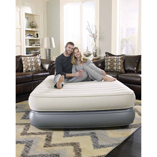 simmons beautyrest comfort suite adjustable raised queen air bed mattress with builtin pump