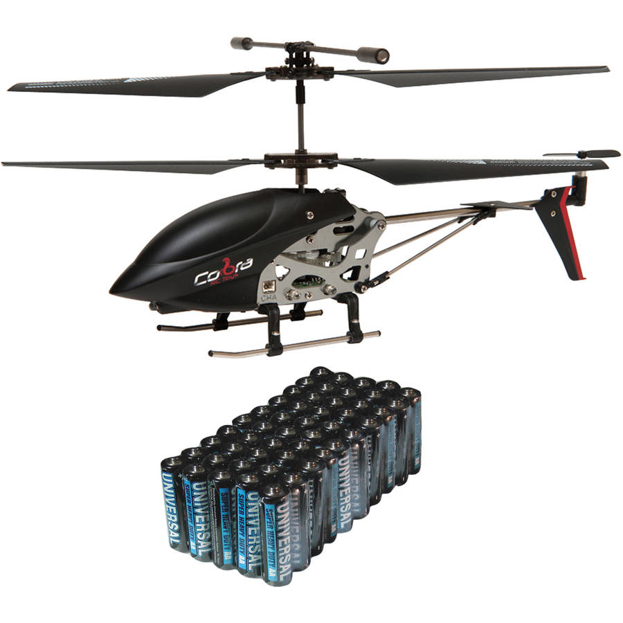 Cobra RC Toys 908720 3.5-Channel Mini Gyro Special Edition Helicopter and Super Heavy-Duty Battery Value Box