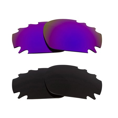 Martini Racing Sunglasses (Racing Jacket Replacement Lenses Black & Purple by SEEK fits OAKLEY)