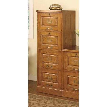 Paulina Oak File Cabinet w/ 4 Drawers